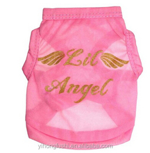 Dog Shirt, Pet Cats Puppy Dogs Clothing, Angel Wings Pet Dog Summer T-shirt Vest Pink