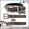 Luckgain hot sale 12pcs in Pet Cat Dog Soft PU Leather Collar with Small Accessory