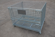 Industrial Stackable metal wire mesh box
