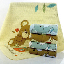 Bear printed baby quilt