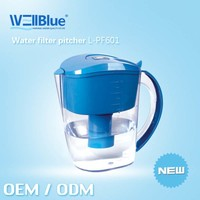 Wellblue Water filter pitcher with activated carbon pH 9 ORP -200MV
