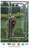 Dog Galvanized 12 Gauge Chain-Link Box Backyard Kennel Locking Gate Secure Safe