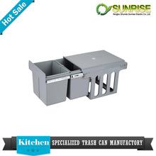 kitchen cabinet fancy copper large plastic waste bins