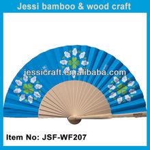 las ventas caliente tela español ventilador de madera para la boda