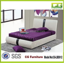Hot Selling Home Furniture Practical Faux Leather Pu Wooden Bed Frame with High Quality