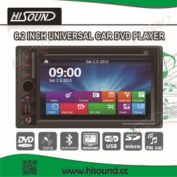 6.2inch touch screen 2 din car dvd player for toyota corolla verso with gps