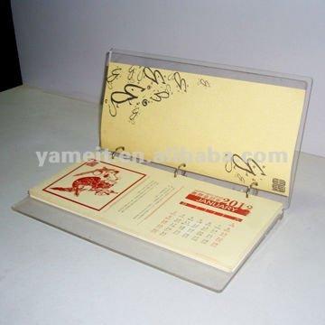 2013 de haute qualit acrylique calendrier de bureau - Calendrier de bureau personnalise ...