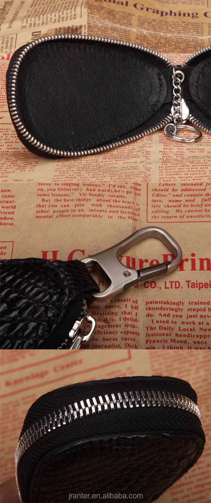Luxury handmade key case for car genuine crocodile leather car key case for BMW TOYOTA _10