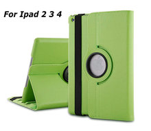 High Quality 360 Degree Rotating Stand PU Leather Case Smart Cover For iPad 234 With Automatic Wake/Sleep Function