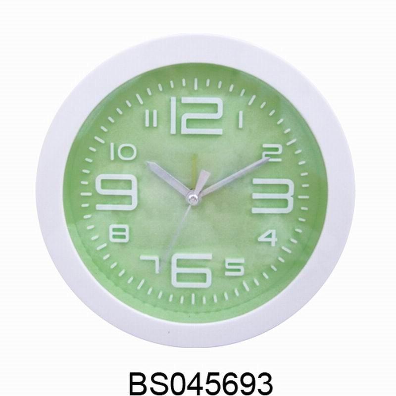 유럽 간단한 현대 디자인 벽 시계 라운드 모양 다채로운 알람 ...