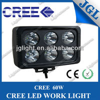 Square 7'' led work light for truck off road 4x4 JEEP fog light superbright 60w cree worklight