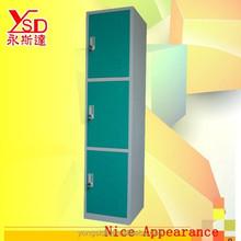 3-door storage locker wardrobe knock down wardrobe Knock down metal locker