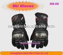 Outdoor snow warm fingers waterproof ski gloves for boy HX-05
