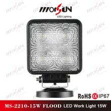 spot beam 15W 3W*5 pcs LED work light for offroad buggy rav4 4wd jeep racing car LED headlight