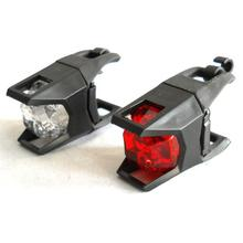 2 LED silicone front bicycle helmet mount