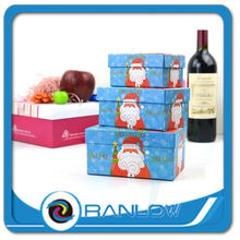 Christmas apple rectangle wine gift design printing decorative christmas gift boxes