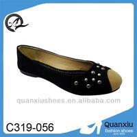 woman black cute closed toe shoes