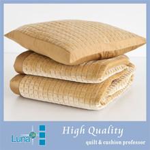 velvet quilted satin knitted bedspread set