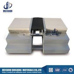 Aluminum base recessed stretch rubber expansion joints for concrete in building