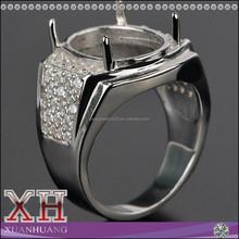 2015 Sterling Silver Cubic Zircon Men Ring Design for Gemstone