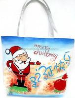 reusable cotton shopping bag/ men cotton satchel bags/ printed tote bag