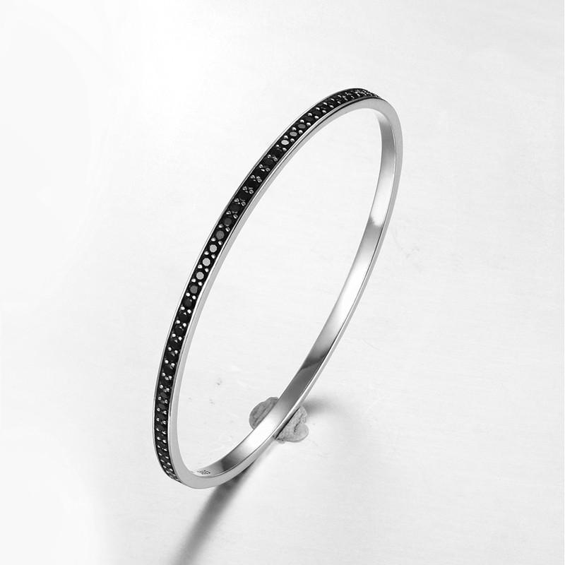 Bangle Stand Designs : Silver bangles bracelets black spinel bangle stand