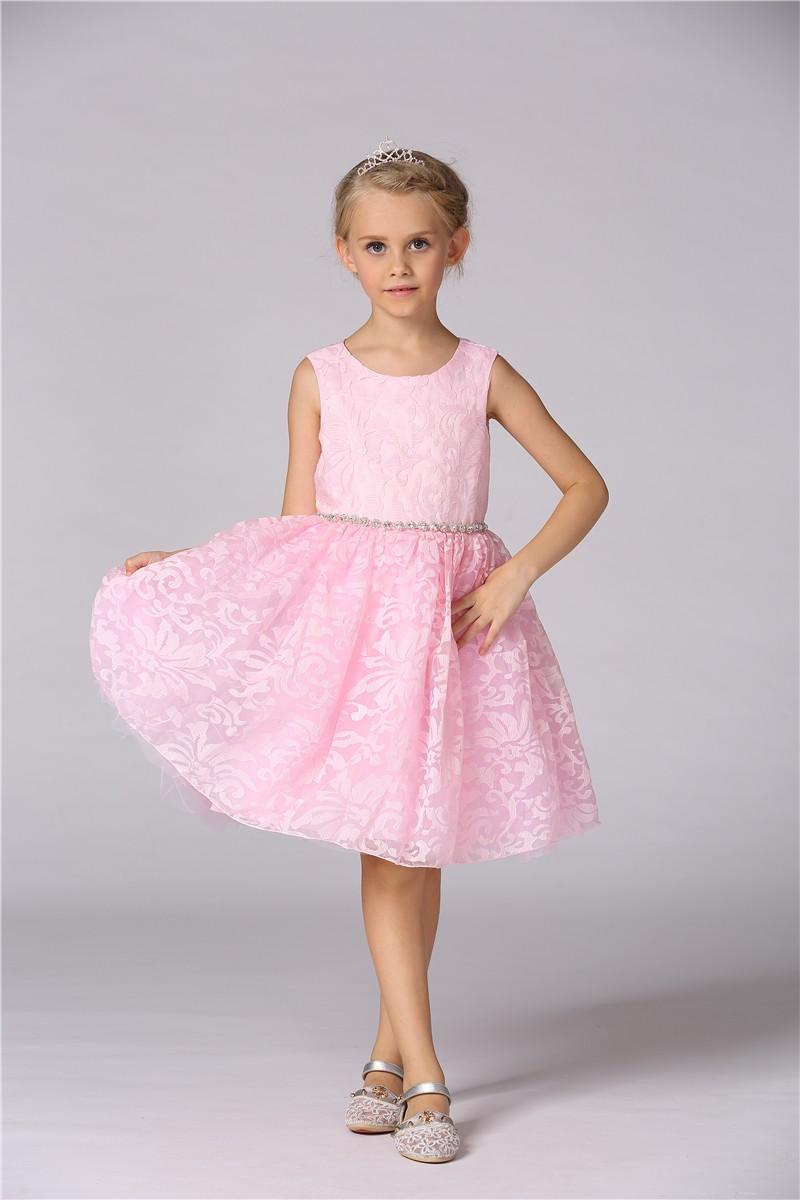 Llano teñido fiesta vestido formal cumpleaños vestido para niña T183 ...