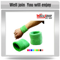 100% Terry Cotton Wristband/Sweatband Used in Sports Games