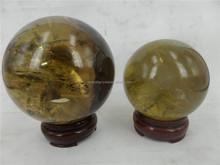 quartz rock citrine cryastal sphere for sale