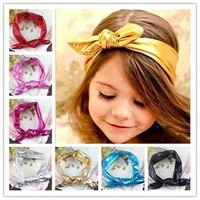 Rabbit ear headbands for baby girls children party decorations