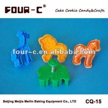 Animals shaped plunger cookie cutter,plastic cookie tools String cutter