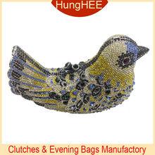 luxury Crystal evening clutch bird shape crystal evening bag IF-HC2061