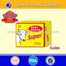 Super beef flavour seasoning cube 10g/pc,60pcs/box,12boxes/carton
