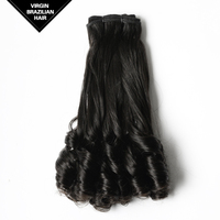 VV Perfect Fullness Wholesale 12 Inch Double Drawn Natural Black Afro Hair 100% Virgin Brazilian Hair Extension