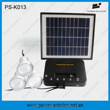 solar dc lighting kit with 3 lights and phone charger