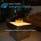 led acrílico design bolha de água de mesa