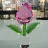 k9 glass crystal flower, crystal flower for gift use, small size crystal flower