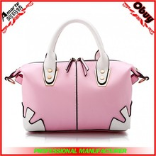 Stock leather lady bag woman tote bag online 2015 China factory