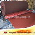 Interior de alto rendimiento& uso al aire libre de atletismo suelo reciclables de rodadura de caucho superficie de la pista
