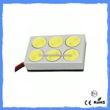 Excellent quality high bright Bulb Car Light pcb dome 6smd/ 12V smd dome car bulb light