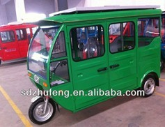 2014 new design solar power electric tricycle on roof