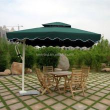 green UV protect 2.1*2.1m patio umbrella, decoration garden or home outdoor sideway umbrella