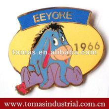 colored eeyore cartoon metal badge pin
