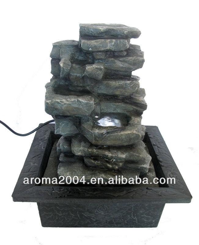 interior polyrein artesanato pedra fonte da tabela