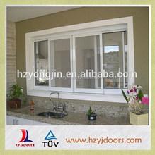 2015 NEW designs hot sale double glass aluminum sliding window