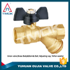 high pressure propane gas quick connect ball valve for water polishing CW617n material o-ring 600 wog manual power three way