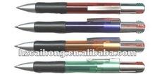 Multi-function ballpoint pen,colorful ink plastic ballpoint pen ,4 in 1 ballpen CH-6116 OEM welcome