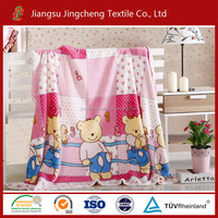100% polyester flannel blanket printed for tex baby blanket/printing blanket factory China JCBL04063