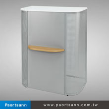 metal and wooden table top speech lecture podium desk design