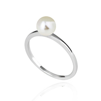 Luxury decorated fashion women pearl jewelry saudi gold ring of Simple design jewelry for women